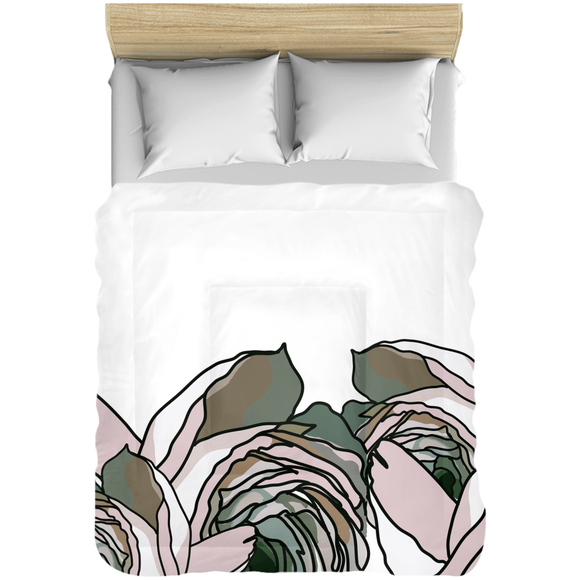 Peach Rose Bundle Comforter