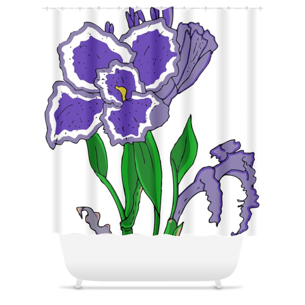 Iris Shower Curtain - Artski&Hush