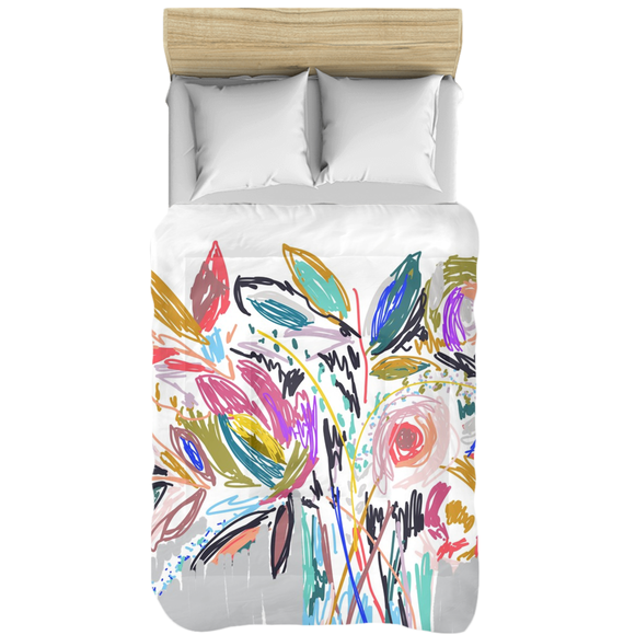 Messy Flora Painting Comforters