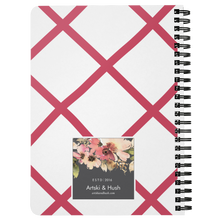 Load image into Gallery viewer, Flora Bicycle Spiral Notebook in Raspberry - Artski&Hush