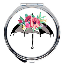 Load image into Gallery viewer, Flora Umbrella Compact Mirror - Artski&Hush