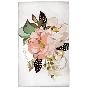 Metal Bouquet Hand Towels