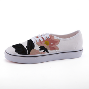White Flora Low-top fashion canvas shoes