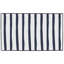 Load image into Gallery viewer, Navy Ticking Indoor/Outdoor Floor Mats - Artski&Hush