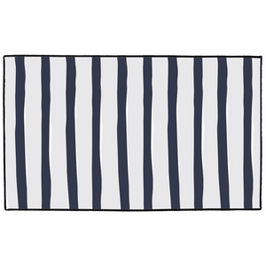 Navy Ticking Indoor/Outdoor Floor Mats - Artski&Hush