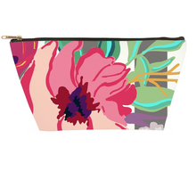 Load image into Gallery viewer, Striped Flora Accessory Pouches - Artski&Hush