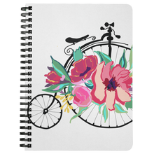 Load image into Gallery viewer, Flora Bicycle Spiral Notebook in Green - Artski&Hush