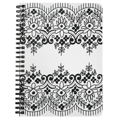 Dual Lace Spiral Notebook
