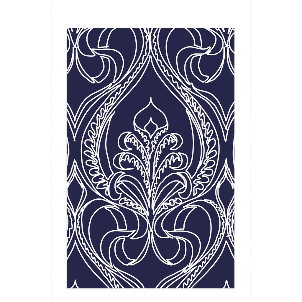 Navy Lily Dish Towels