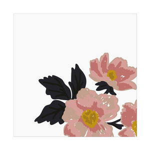 White Flora Cloth Napkins - Artski&Hush