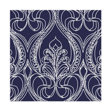 Load image into Gallery viewer, Art Deco Navy Lily Cloth Napkins - Artski&Hush