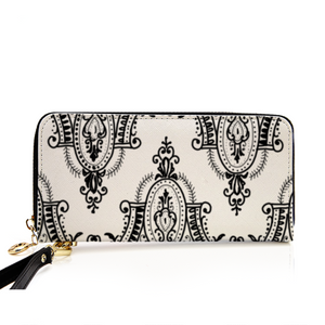 Arched Lace Women's Leather Wallet/Long Clutch Purse - Artski&Hush