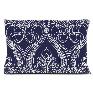 Art Deco Navy Lily Decorative Dog Beds - Artski&Hush