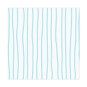 Spring Turquoise Stripes Cloth Napkins - Artski&Hush