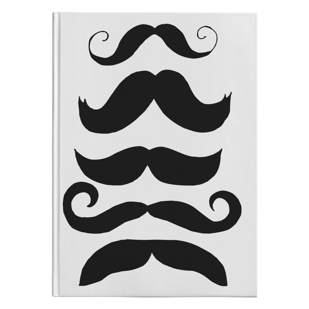 Mustache Club Hardcover Notebook/Journal - Artski&Hush