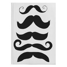 Load image into Gallery viewer, Mustache Club Hardcover Notebook/Journal - Artski&Hush