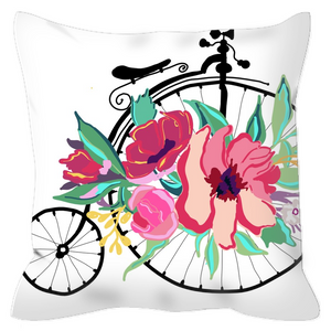 Flora Bicycle Decorative Outdoor Pillows - Artski&Hush
