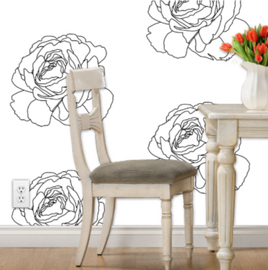 B & W Rose Wallpaper - Artski&Hush
