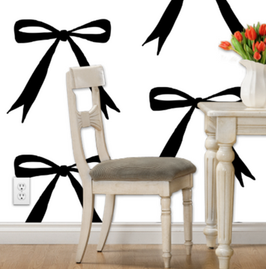 Large Thinning Bow Wallpaper - Artski&Hush