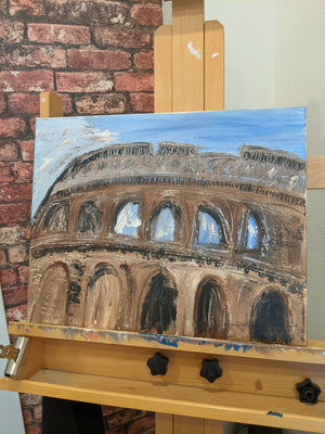 'When In Rome' Acrylic Painting