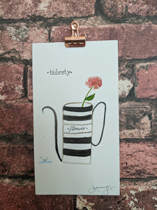 Thirsty Watercolor Card