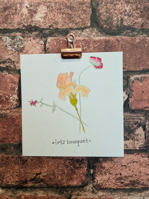 Iris Bouguet Watercolor Card