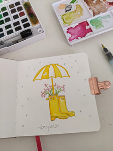 Droplets Watercolor Card
