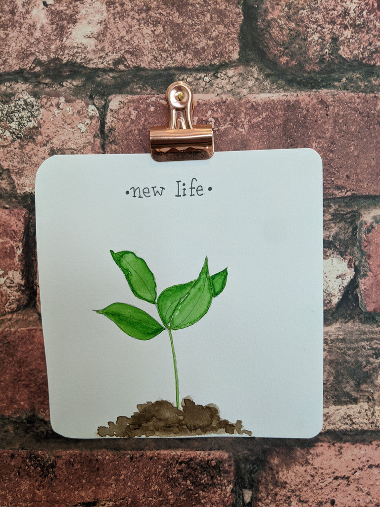 New Life Watercolor Card
