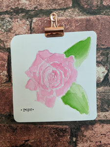 Rose Watercolor Card