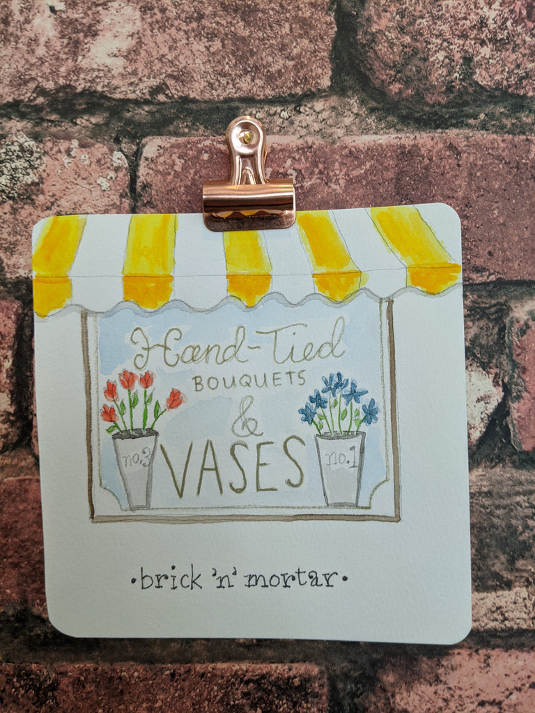 Brick & Mortar Watercolor Card