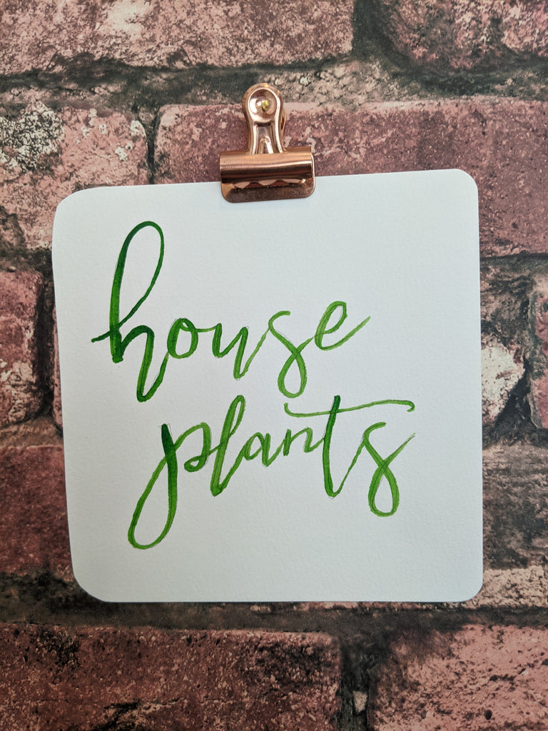 House Plants Watercolor Card