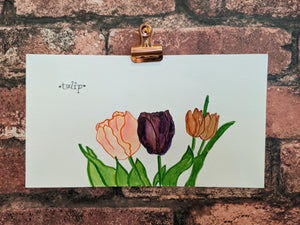 Tulips Watercolor Card