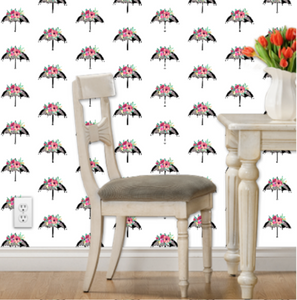 Flora Umbrella Wallpaper - Artski&Hush