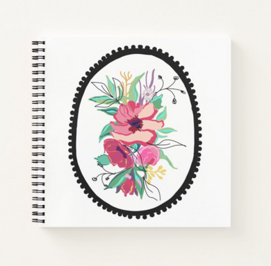 Framed Flora Notebook - Artski&Hush
