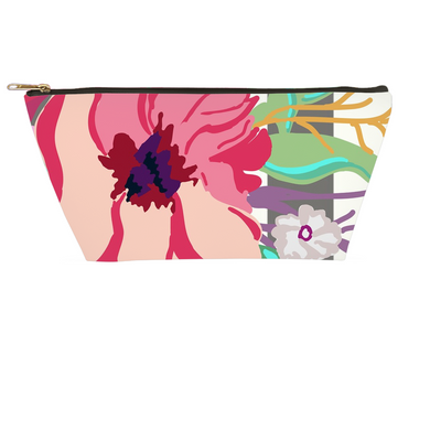 Striped Flora Accessory Pouches - Artski&Hush