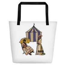 Load image into Gallery viewer, Ladies at the Tent Beach Tote Bag