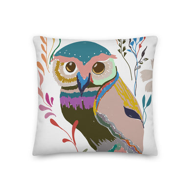 The Great Colorful Owl Decorative Throw Pillow