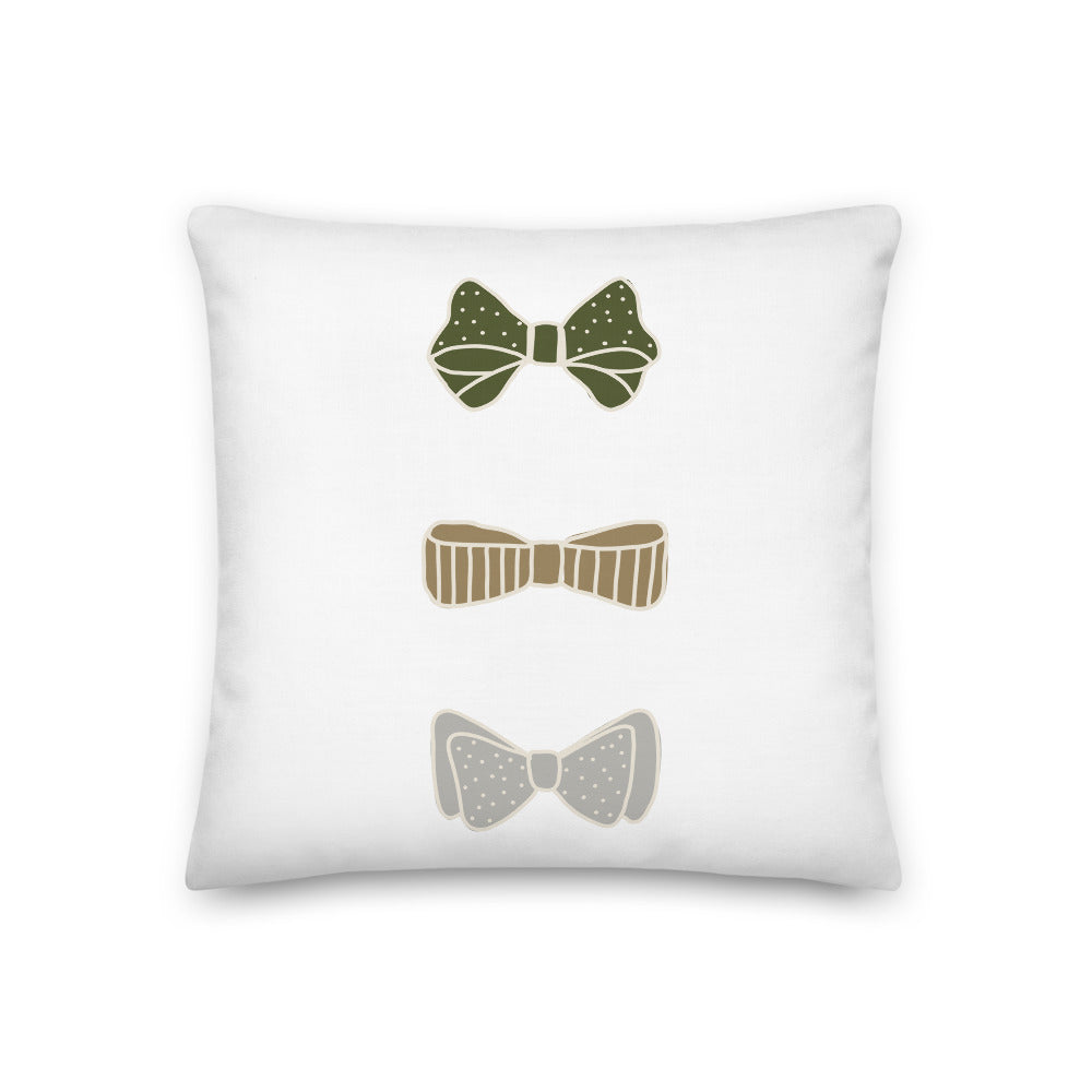 Winter Bows Decorative Throw Pillow