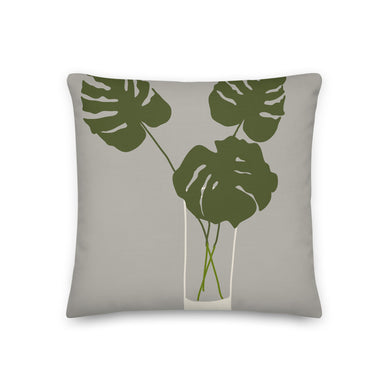 Monstera Leaves Trio Decorative Throw Pillow