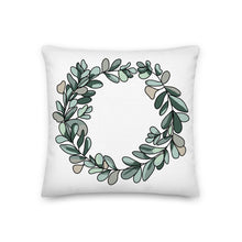 Load image into Gallery viewer, Eucalyptus Wreath Decorative Pillow