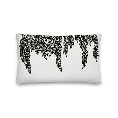 Flowing Leaves Decorative Throw Pillow