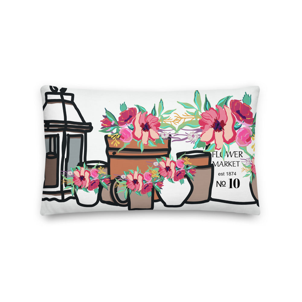 Flower Pots Decorative Throw Pillow