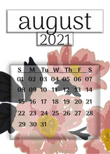 Load image into Gallery viewer, 2021 Illustrated Calendar