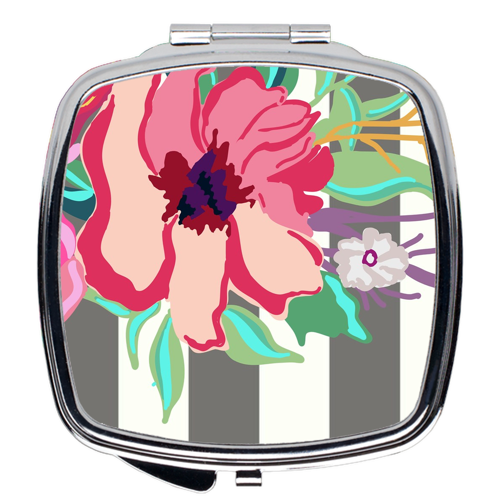 Striped Flora Compact Mirror - Artski&Hush