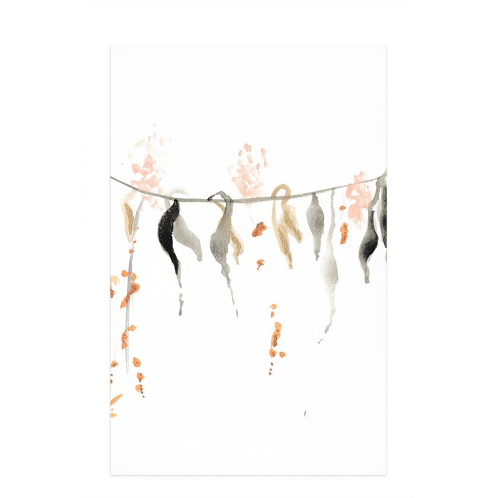 Watercolor Vine Dish Towels