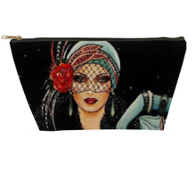 Load image into Gallery viewer, Lady Rose Art Deco Accessory Pouches - Artski&Hush