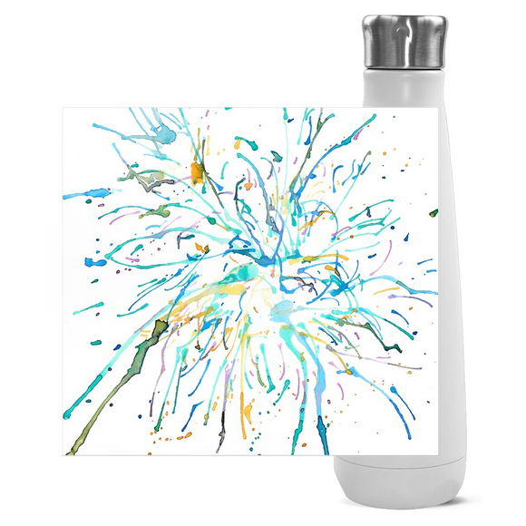 Watercolor Firework Water Bottles