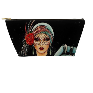 Lady Rose Art Deco Accessory Pouches - Artski&Hush
