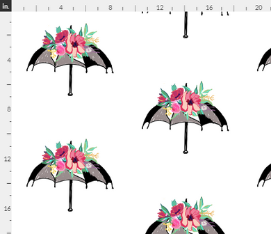 Flora Umbrella Fabric - Artski&Hush