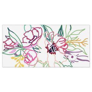 Spring Colorful Gathering Beach Towel - Artski&Hush